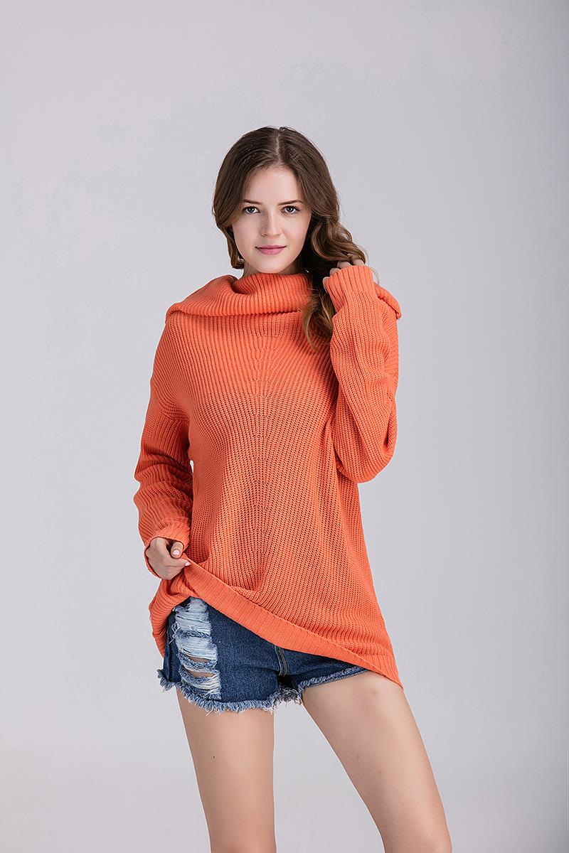 Stylish Knit Top Orange