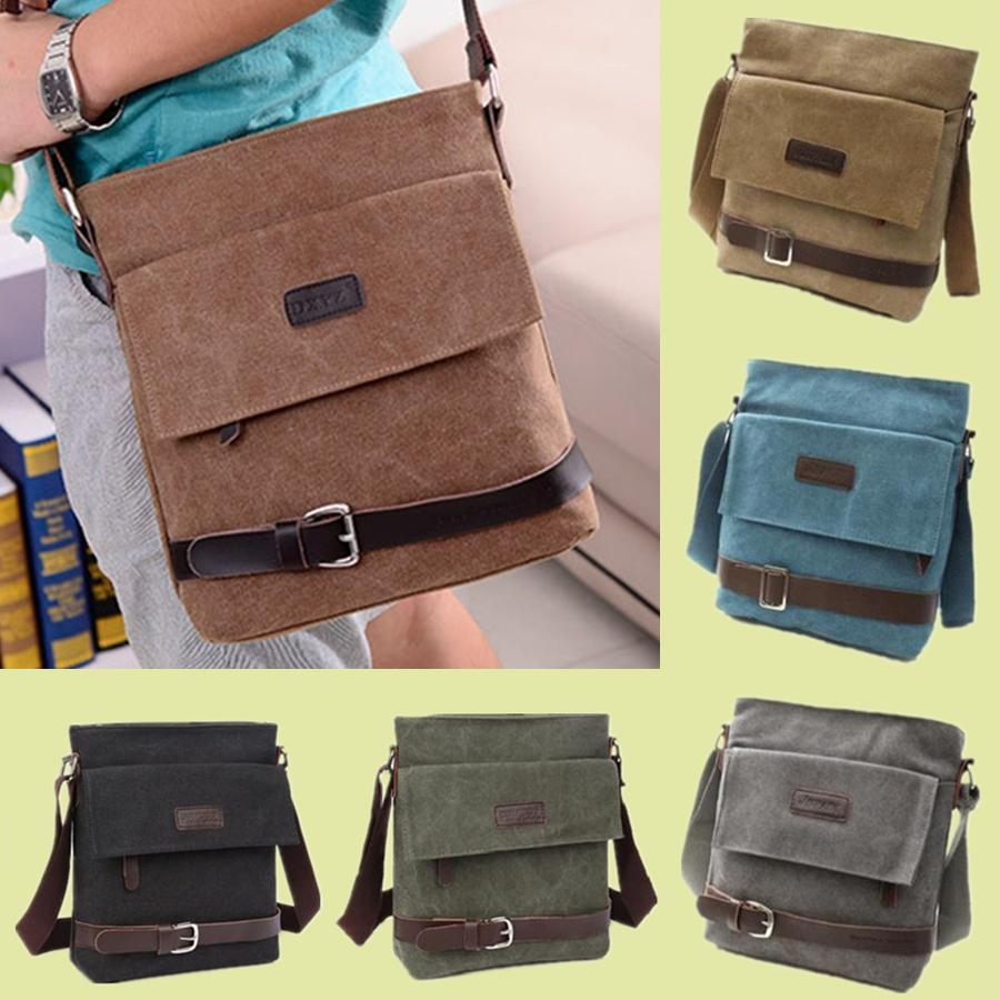 Stylish Men Canvas Bag Messenger Shoulder Sling Ipad