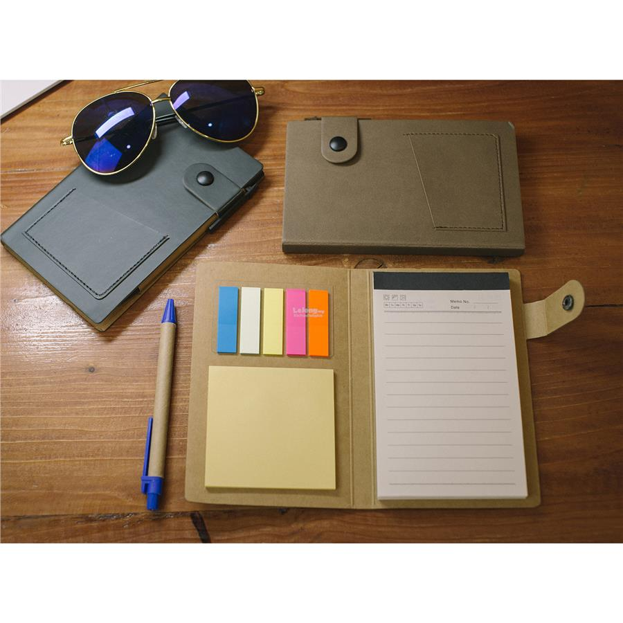 Stylish Notebook with Post It Note & Pen (STS-908)