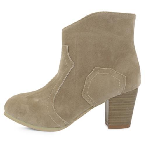 patchwork boots heel
