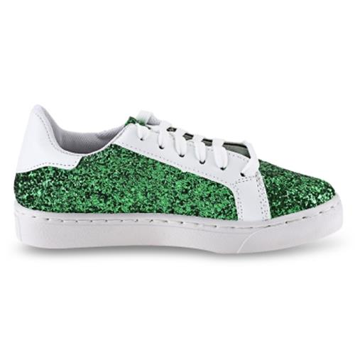 STYLISH SEQUINS STAR EMBELLISHMENT LADIES SNEAKERS (GREEN)