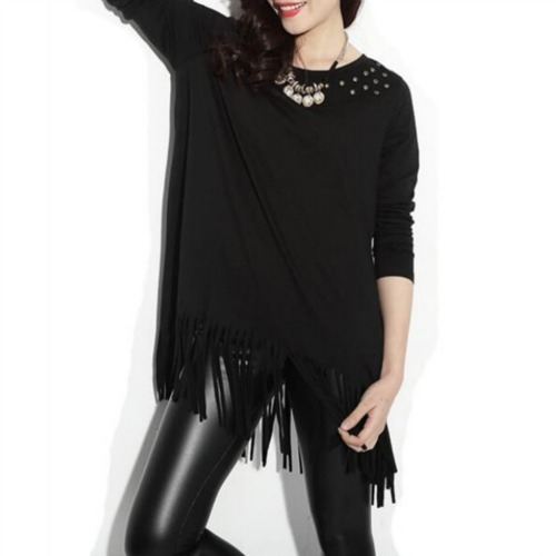 STYLISH TOP BLACK WT6649
