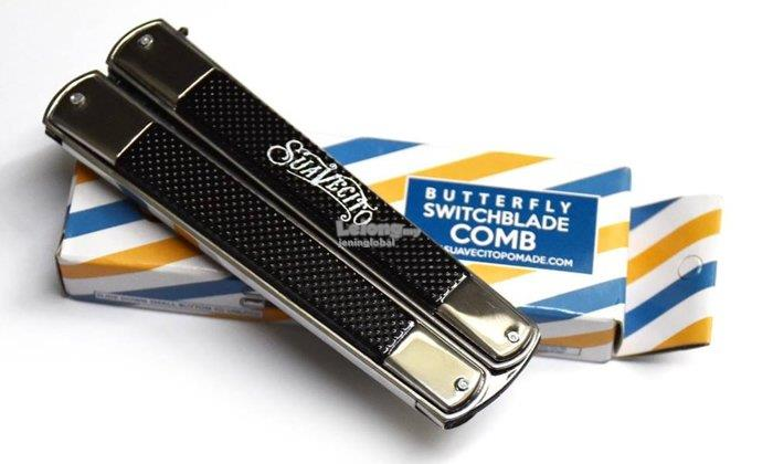 Suavecito Butterfly Switchblade Comb