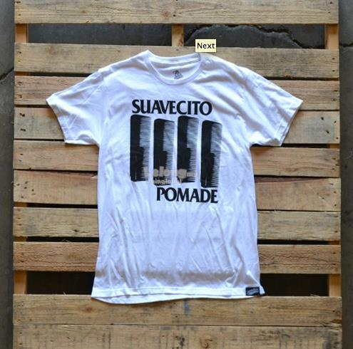 Suavecito Pomade Authentic Black Comb White T-Shirt