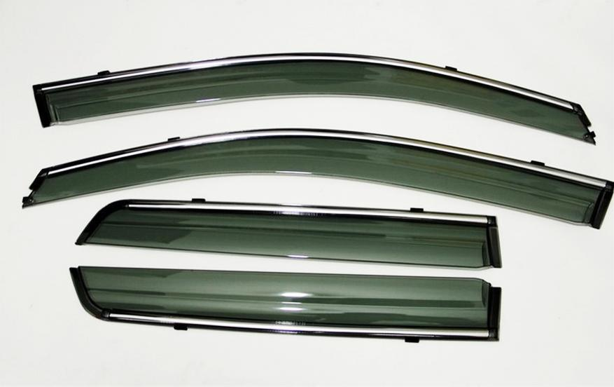 Subaru Forester Acrylic Door Visor with Chrome Lining