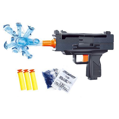 Submachine Game Shooting Water Crystal Gun 2in1 Nerf Air Soft Toy Gun