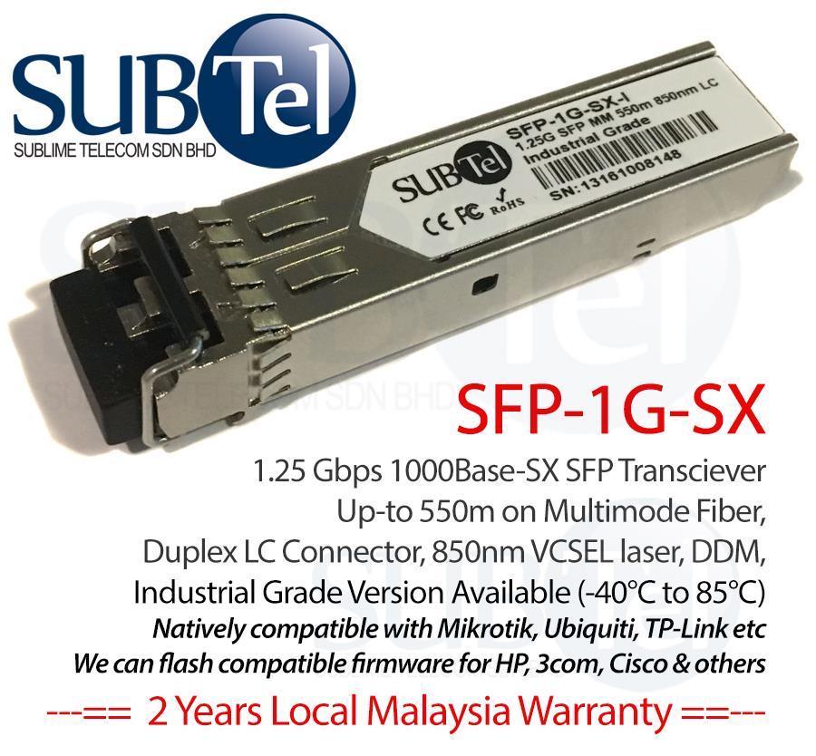 SUBTel SFP-1G-SX 1 25Gbs 550m SFP Transceiver MultiMode MM Malaysia