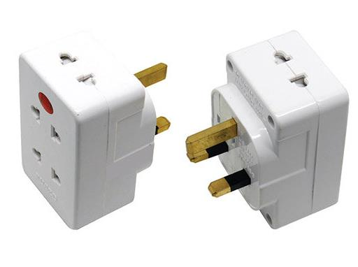 SUM S740N 4 Way 2 Pin Adaptor with Neon, SIRIM and Surge Protection