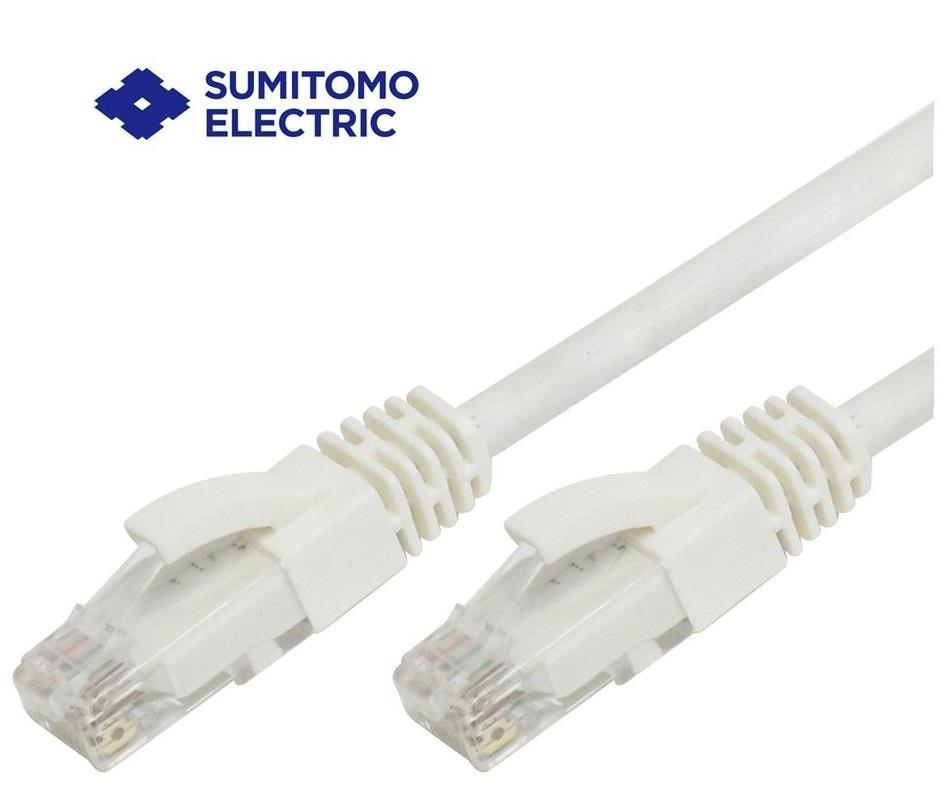 SUMITOMO ELECTRIC RJ45 CAT6 UTP NETWORK CABLE 3M *FROM JAPAN (232GY)