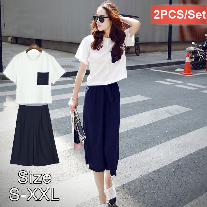 summer korean fashion twopiece set o end 752018 515 pm