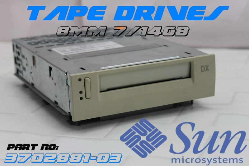 Sun 8mm 7/14GB Eliant 820 Internal SE/SCSI Tape Drives (3702881-03)