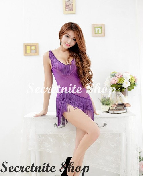 Sun @ Sexy Purple Babydoll with G-string S-1417