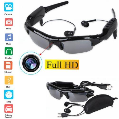 Sunglasses Bluetooth HD Camera Video Recorder Audio Mp3 Player. ‹ ›