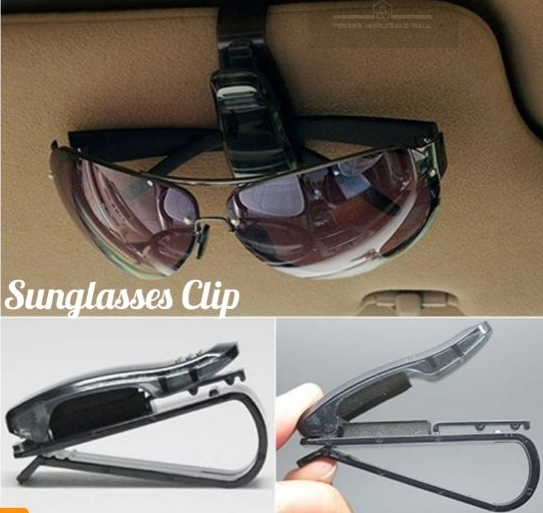 Sunglasses Ticket Card Holder Mirror Clip Auto Car Vehicle Visor Glasses