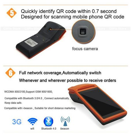 Sunmi Android 5 5 Inch Touch screen POS Terminal mobile bluetooth/wifi