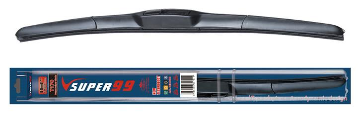 SUPER 99 Silicone Windshield Universal U Hook Hybrid Wiper Blade New