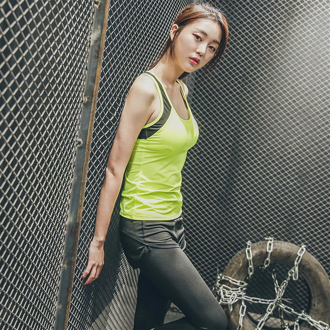 Super breathable sports vest spring and summer without steel ring