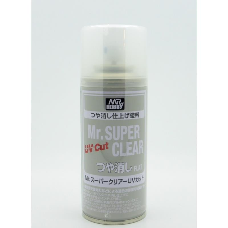 Mr Super Clear (Aerosol) B523 Flat UV cut
