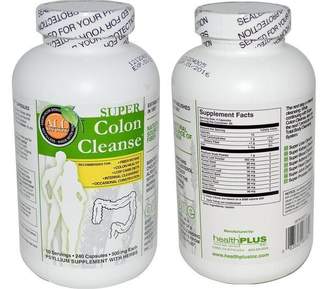 Super Colon Cleanse Made in USA Max Body Cleansing Detox 240 capsules