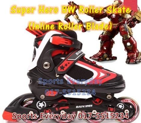 Super Hero Roller Skate (Inline Roller Blade) Kasut Roda - Ironman ca9c4912bf