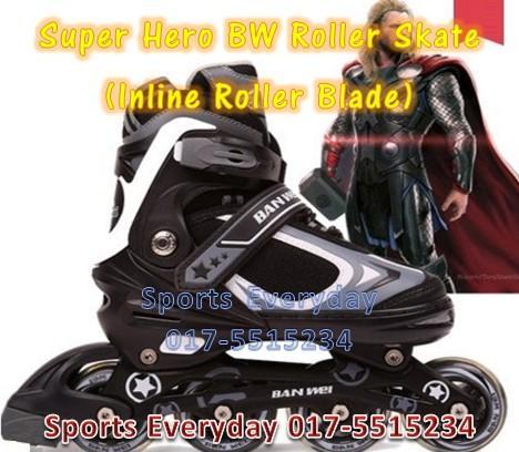 Super Hero Roller Skate (mainan Inline Roller Blade) Kasut Roda - Thor e50595cb83