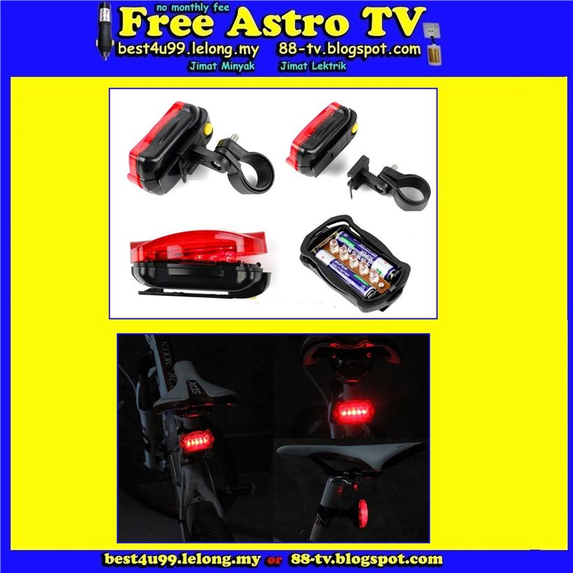 Super Lamp LED Rear Flash Light Torch Safety Motorbike Bike Bicycle ac