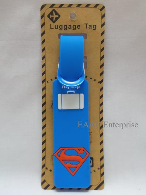 Super Man Cartoon Luggage Tag Suitcase ID Baggage Travel Label Bagasi