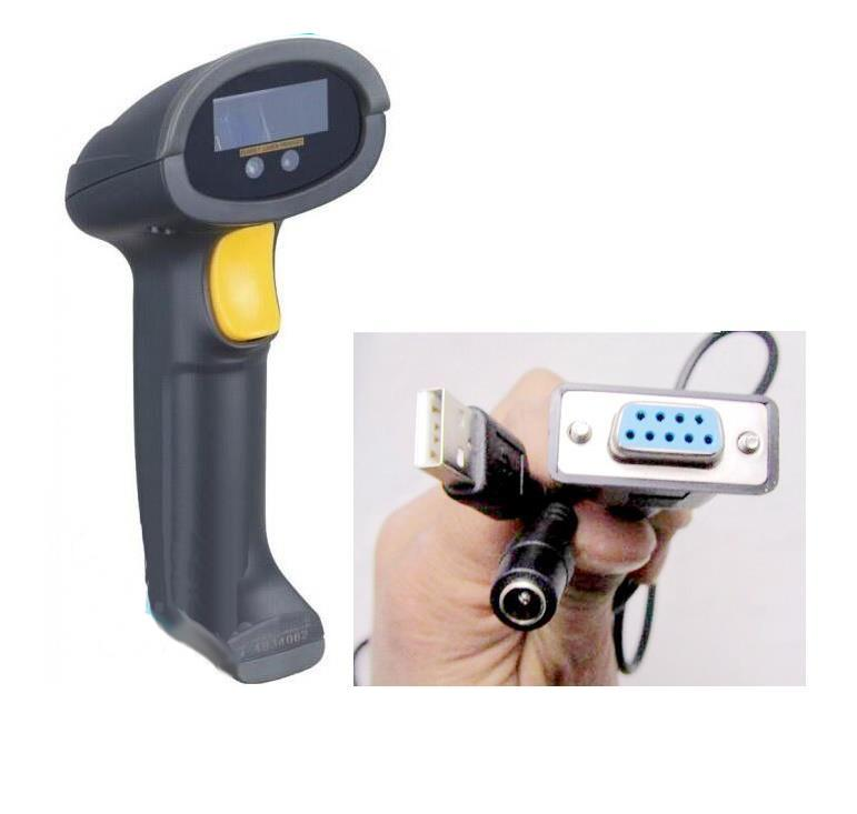 Super Market Cash Register Laser Barcode Scanner RS232 Serial Port