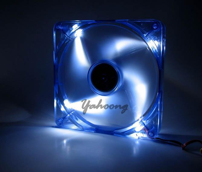Super Size 140mm White LED Cooling Fan - Cool Down PC /Server Instant