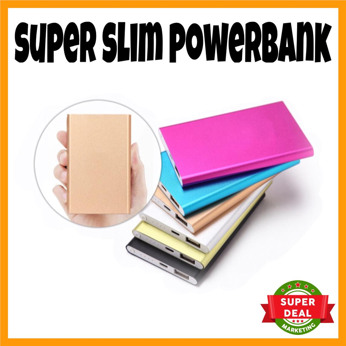 Super Slim Power Bank 12000mah with FREE GIFT