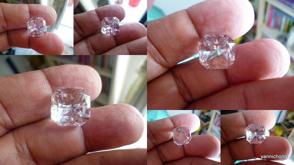 SUPERB CUT CLEAR TRANSLUCENT QUARTZ  CRYSTAL SQUARE