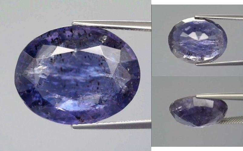 Superb quality natural violetish blue Iolite faceted - 13.49CT - IO04