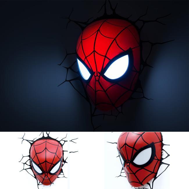 Superhero spiderman head 3d wall l end 4232016 537 pm superhero spiderman head 3d wall lampdeco light mozeypictures Choice Image