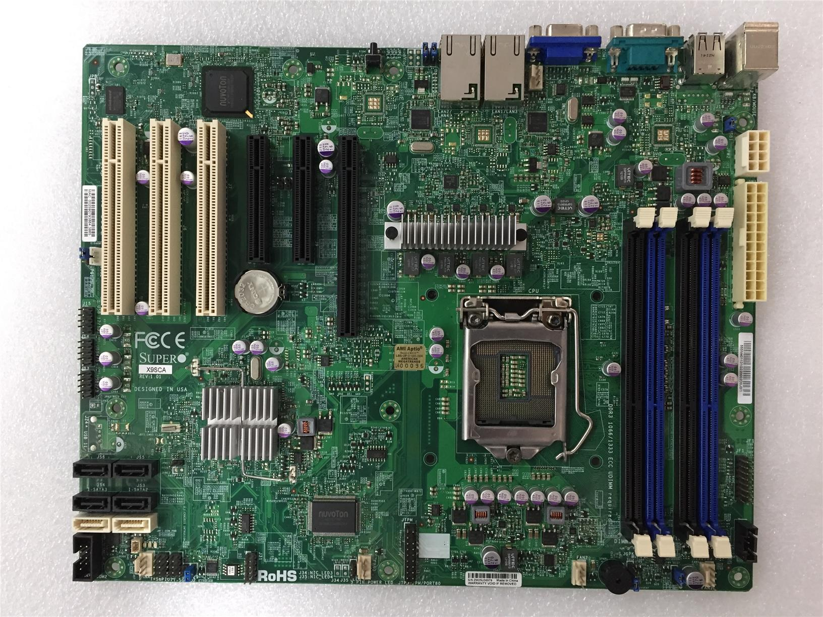 SuperMicro X9SCA intel C204 Single Socket LGA1155 DDR3 Motherboard