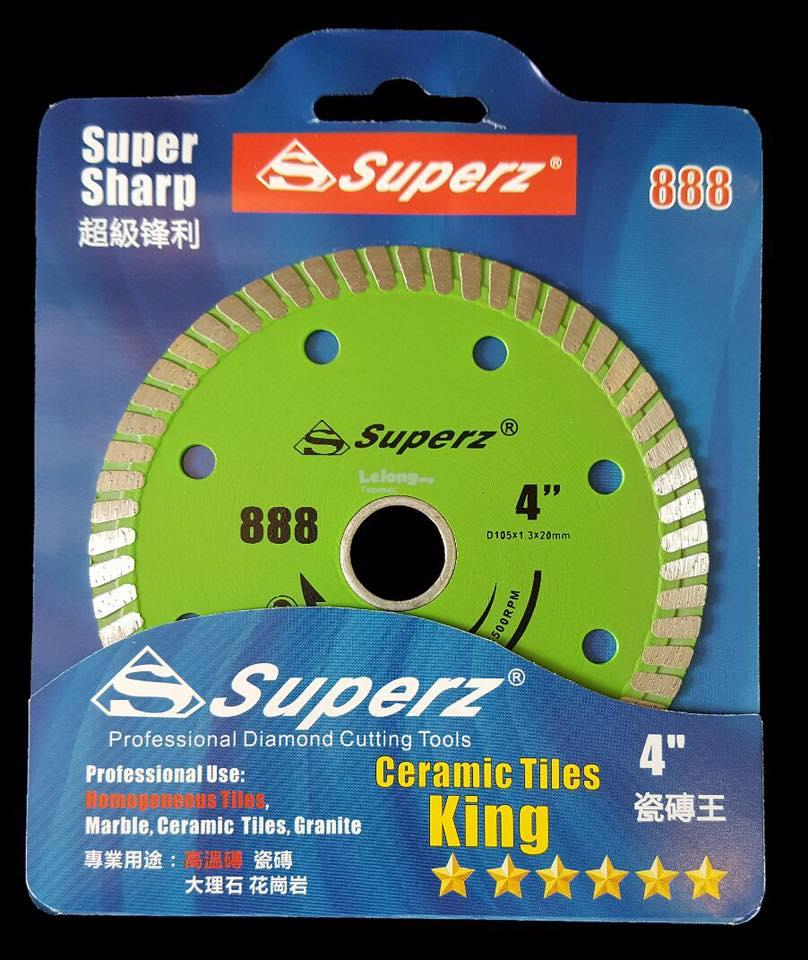 SUPERZ 4' DIAMOND CUTTING TOOL / DIAMOND BLADE (SUPER SHARP 888)