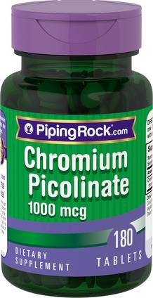 Support Diabetes, Aging & Blood Sugar, Chromium Picolinate 1000mcg