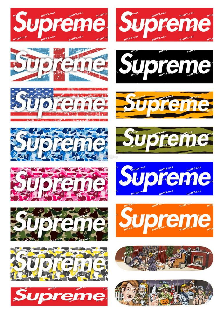 stickers supreme vans
