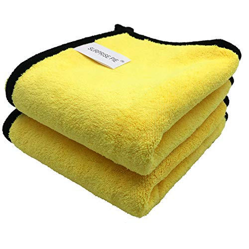"SURPRISE PIE Extra Thick Microfiber Cleaning Cloths 16 ""x12 "" 2 Pack"