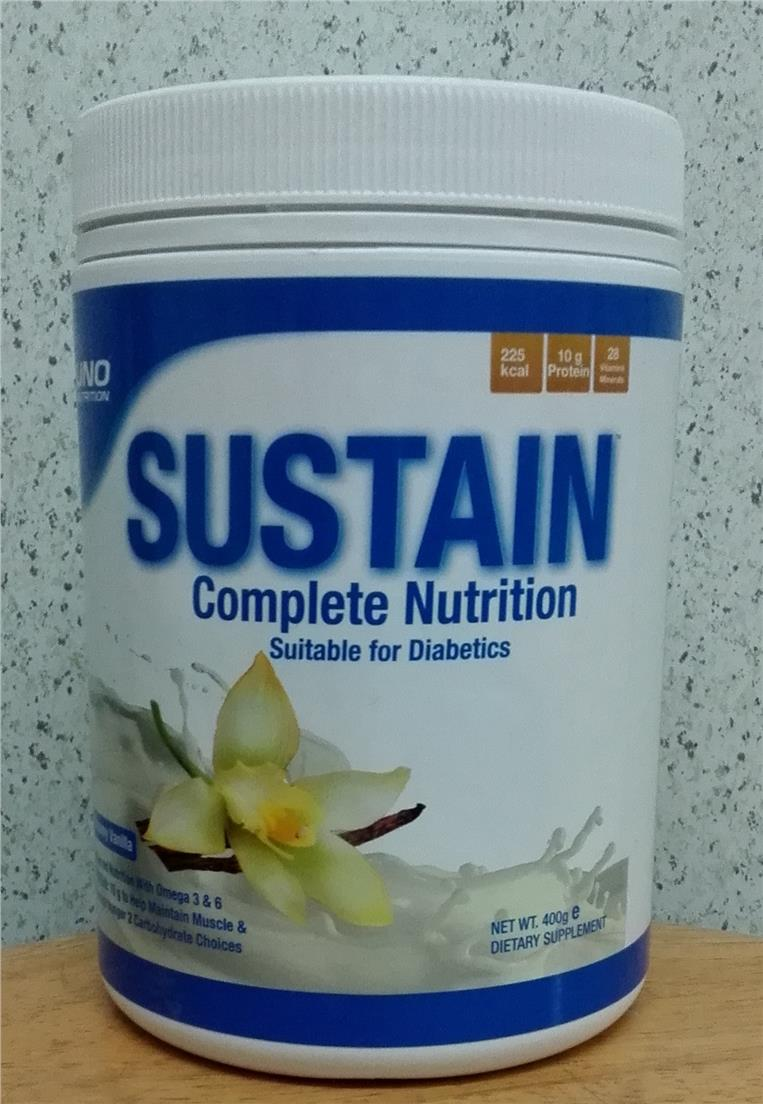 Sustain 400g Complete Nutrition suitable for diabetics after Glucerna