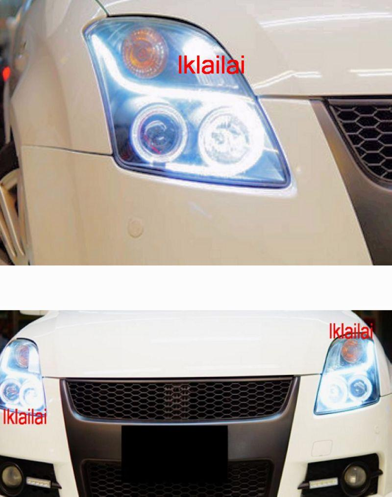 SUZUKI SWIFT '05 Cool Starline DRL R8 Projector Head Lamp LED Ring