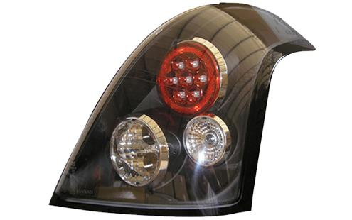 Suzuki Swift `05 Tail Lamp Crystal LED Black [SK01-RL01-U]
