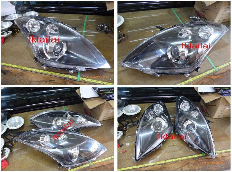 Suzuki Swift 3rd Generation '12 Projector Head Lamp Black