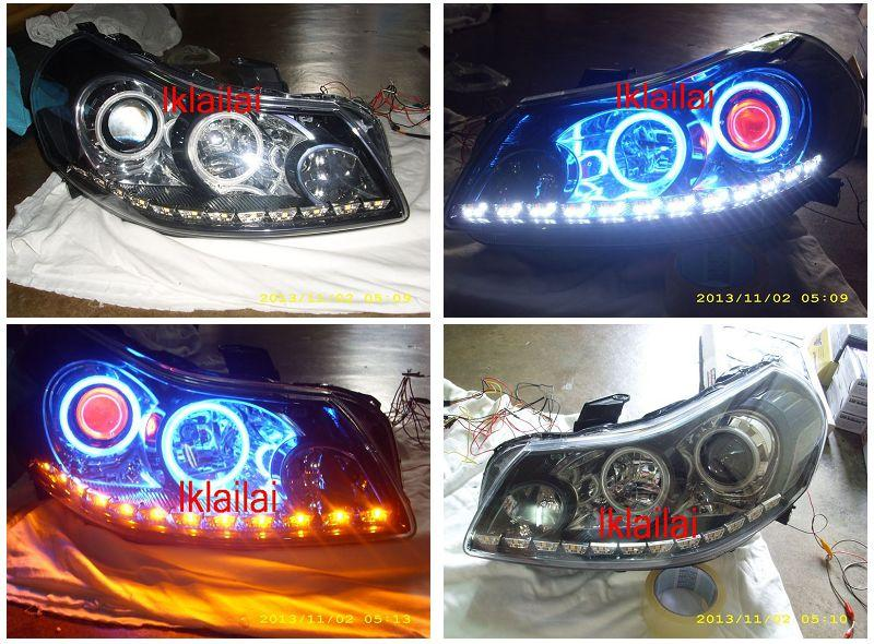 SUZUKI SX4 Head Lamp Colour Angel Eye & CCFL Ring + 2-Function DRL R8
