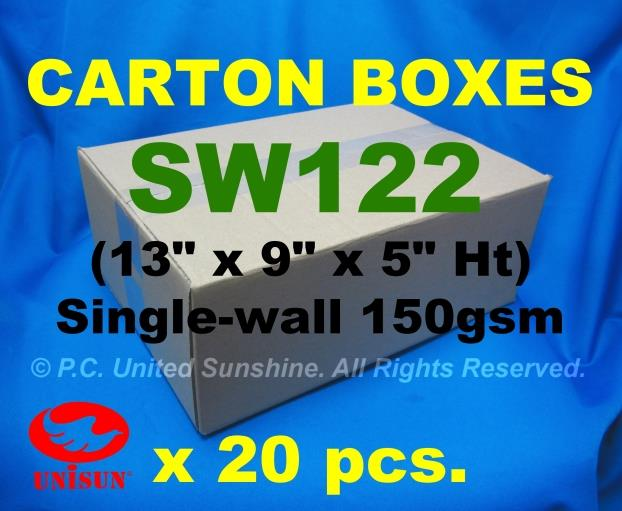 "SW122 Small CARTON BOX x 20pcs. 13"" x 9"" x 5"" Ht Courier Shipping Pack"
