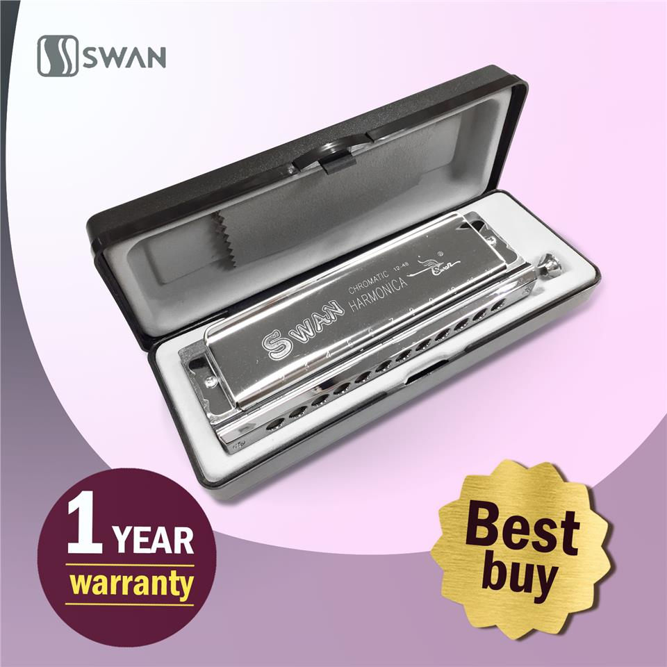 8460dc01e Swan Chromatic Harmonica Mouth Organ With Black Box (Professional)