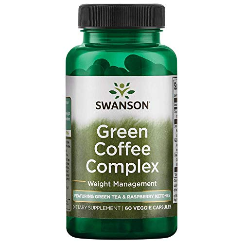 Swanson Green Coffee Complex with Green Tea  & Raspberry Ketones 60 Veg Capsul