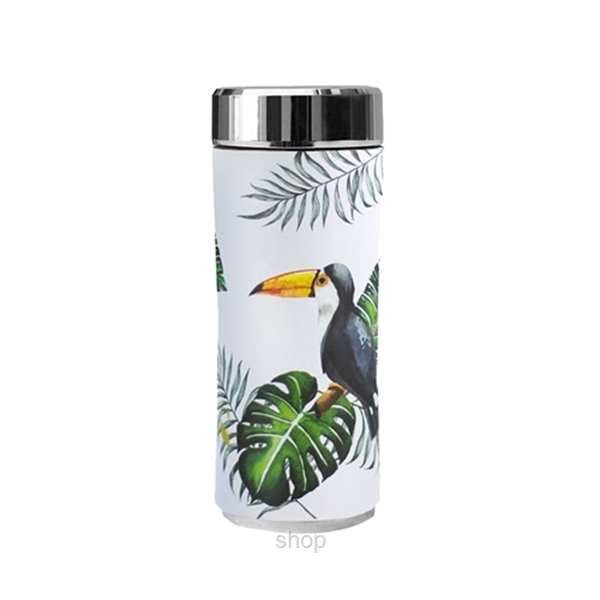 SWANZ 360ml Toucan Crown Collection Porcelain Tumbler (With Strainer) -SY-025T