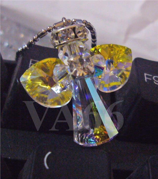 Swarovski Crystal Angel Pendant Necklace Choose Color Girlfriend