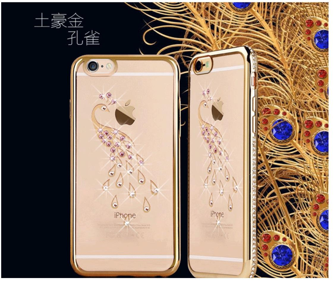 brand new 74270 a464d Swarovski Element iPhone 6 Plus / 6S Housing Case - Peacock & Swan