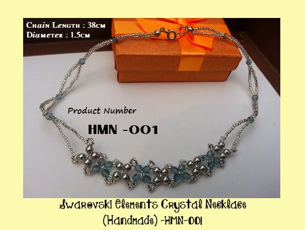 Swarovski Elements Crystal Necklace -HMN-001 Handmade